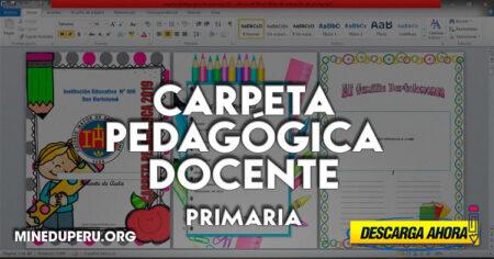 MINEDU - Modelo de CARPETA PEDAGÓGICA DOCENTE para PRIMARIA 2021
