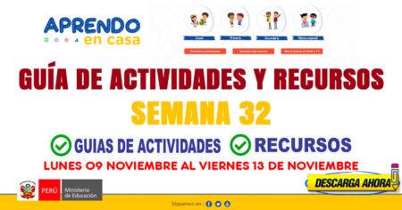 💻SEMANA 32📱 ACTIVIDADES y RECURSOS de APRENDO en CASA