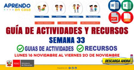 💻SEMANA 33📱 ACTIVIDADES y RECURSOS de APRENDO en CASA