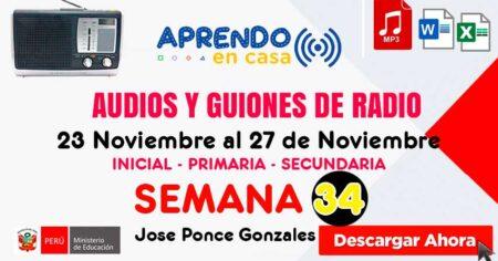GUIONES Y AUDIOS SEMANA 34