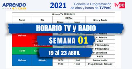 NUEVO HORARIO 📺TV y RADIO📻 NACIONAL APRENDO en CASA 2021