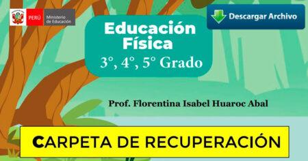 CARPETA DE RECUPERACIÓN DE EDUCACIÓN FÍSICA