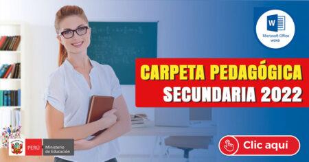 CARPETA PEDAGOGICA PARA SECUNDARIA 2022