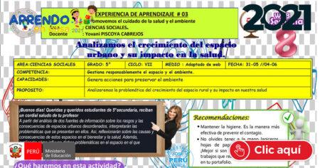 CIENCIAS SOCIALES 5°🌎 EDA III 🔥 Del 31 de Mayo al 4 de Junio📌📌