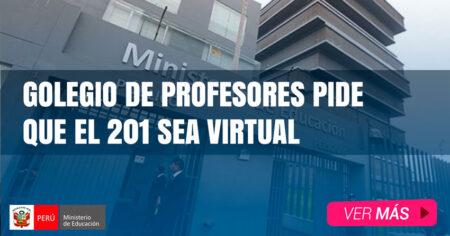 Colegio de Profesores del Perú pide que todo el año escolar 2021 sea virtual