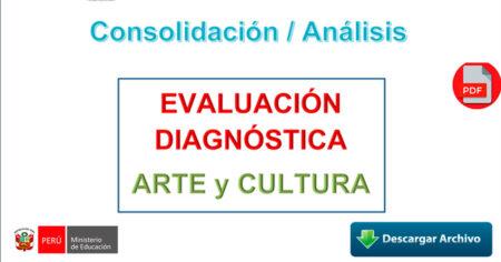 CONSOLIDACION / ANALISIS - EVALUACIÓN DIAGNÓSTICA ARTE Y CULTURA 2021