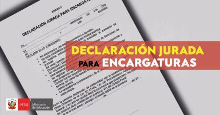 DECLARACIÓN JURADA PARA ENCARGATURAS