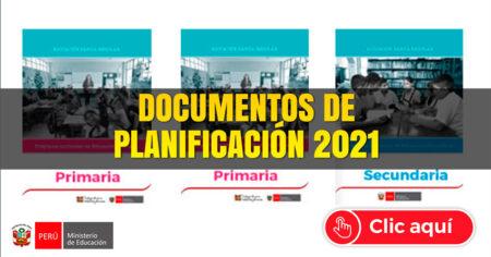 DOCUMENTOS para la PLANIFICACIÓN CURRICULAR 2021