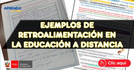 FABULOSOS Ejemplos De Retroalimentación En La Educación Remota APRENDO EN CASA