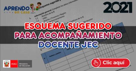 ESQUEMA SUGERIDO PARA ACOMPAÑAMIENTO DOCENTE JEC
