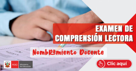 EXAMEN DE COMPRENSION LECTORA PARA EL CONTRATO DOCENTE