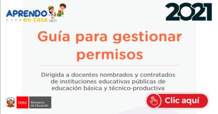 GUIA PARA GESTIONAR PERMISOS para DOCENTES NOMBRADOS y CONTRATADOS