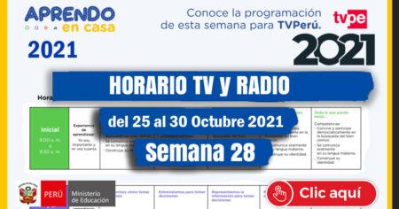 HORARIO TV Y RADIO SEMANA 28