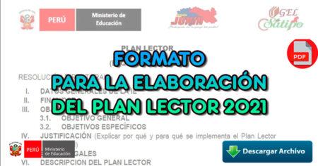 FORMATO PARA LA ELAVORACIÓN DEL PLAN LECTOR 2021