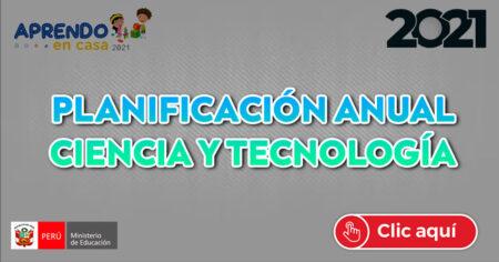 ✔PROGRAMACIÓN ANUAL DE CIENCIA Y TECNOLOGIA 2021🔥