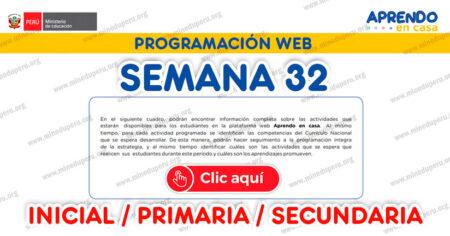 PROGRAMACIÓN WEB SEMANA 32