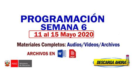 APRENDO en CASA: Programación Completa SEXTA SEMANA 11 al 15 de MAYO 2020