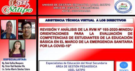 PPT: REVISIÓN Y ANÁLISIS DE LA RVM N* 193-2020-MINEDU