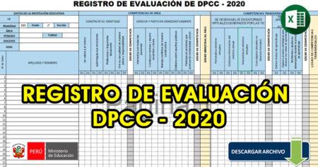 ⭕Registro de evaluación de DPPC 2020 APRENDO en CASA✅
