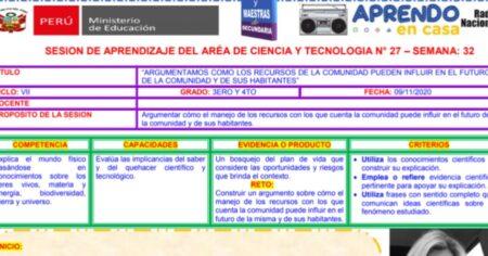 SESION CIENCIA y TECNOLOGÍA  3° y 5° - SEMANA 32