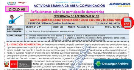 SESION COMUNICACIÓN 3° y 4° - SEMANA 01