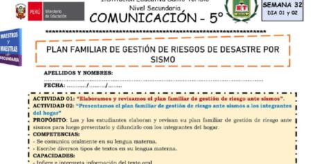 SESIÓN DE COMUNICACIÓN WEB 5° SEMANA 31