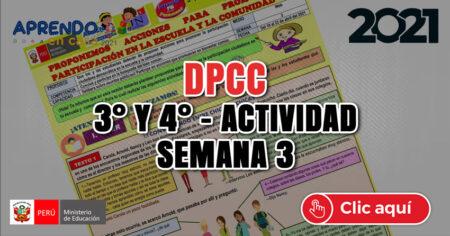 SESIÓN DPCC 3° y 4° - SEMANA 3