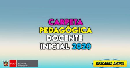 FABULOSA presentación de una CARPETA PEDAGÓGICA DOCENTE de EDUCACIÓN INICIAL 2020