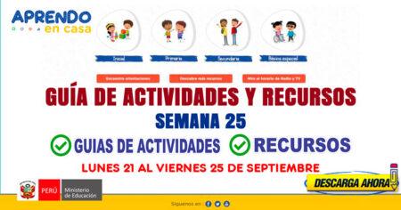 💻SEMANA 25📱 ACTIVIDADES y RECURSOS de APRENDO en CASA