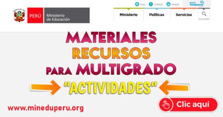 Materiales y Recursos para Multigrado Primaria