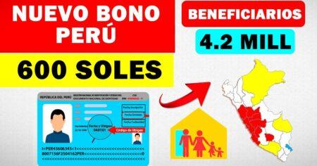 Gobierno otorgará bonos de S/ 600 para 4,2 millones de familias vulnerables