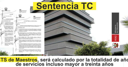 TC Declara inconstitucional los Artículos 35, inciso a, y 63 (CTS) de la Ley N° 29944, Ley de la Reforma Magisterial